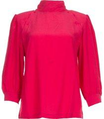 blouse met knoopjes sense  roze
