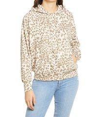 women's all in favor raglan sleeve hoodie, size small - beige