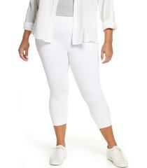 plus size women's lysse denim capri leggings, size 2x - white