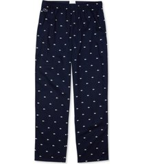 lacoste men's crocodile-print cotton pajama pants