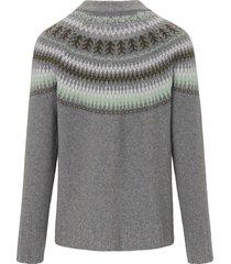 trui met lange raglanmouwen van barbour grijs