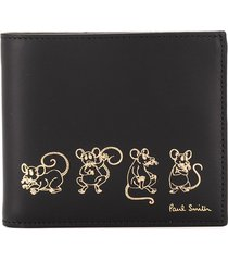 paul smith mouse print square wallet - black