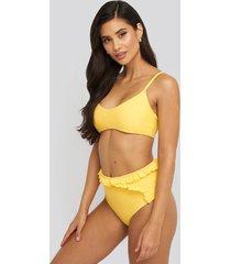 na-kd swimwear bohoo bikini bottom - yellow