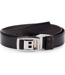 bally men's baldek reversible leather belt - black - size 44
