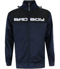 jaqueta com capuz bad boy everyone - masculina - azul esc/branco