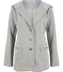 blazer in felpa (grigio) - bpc bonprix collection