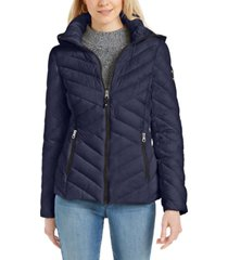 nautica hooded packable puffer jacket