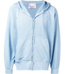 laneus basic hooded jacket - blue