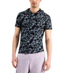 inc men's regular-fit floral-print hoodie, created for macy's