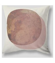 amaro feminino design up living capa de almofada lua 42x42, rosa