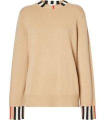 icon stripe trim sweater