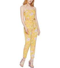 bcbgeneration smocked floral-print jumpsuit