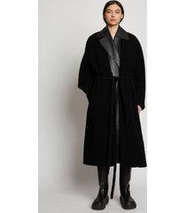 proenza schouler boucle oversized robe coat black xxl
