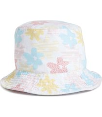 bp. floral print cotton bucket hat in white multi at nordstrom