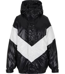 jacket with puffer logo