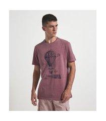 camiseta comfort fit estampa balão | marfinno | vermelho | m