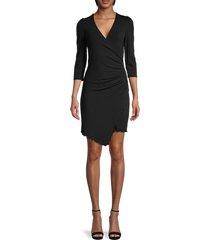 bailey 44 women's yuliana ruched bodycon dress - black - size s