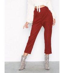 glamorous corded straight pants byxor