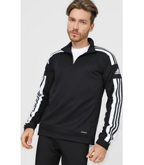 chaqueta negro-blanco adidas performance aquadra 21