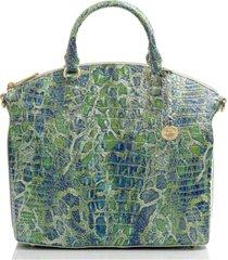 brahmin large duxbury embossed leather satchel