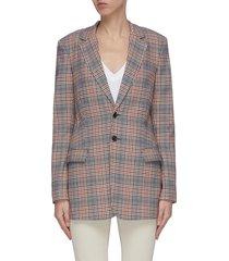 'the calla' check blazer