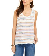 style & co crochet tank top, created for macy's
