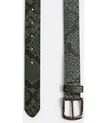 mens khaki snake print belt