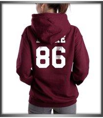 drake 86 on back unisex hoodie maroon