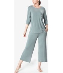 mood pajamas ultra soft comfy women's cropped pajama set