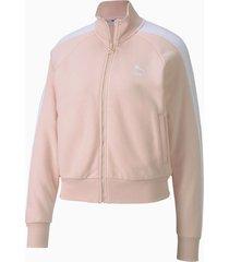 chaqueta rosa blanco puma classics t7  mujer