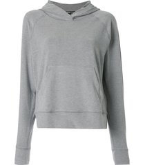 james perse basic hoodie - grey
