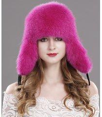 2017 women winter trapper hat genuine fox raccoon fur russian ushanka hat