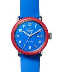 "shinola detrola ""the i voted"" silicone strap watch, 43mm"