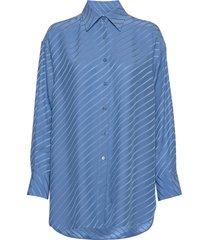 nina silk shirt overhemd met lange mouwen blauw filippa k