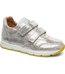shoes with velcro sneakers skor silver bisgaard