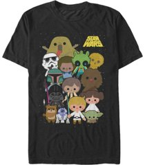 star wars men's classic cute cartoon cast short sleeve t-shirt