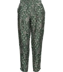 cupro pants w. japanese waves casual broek groen coster copenhagen