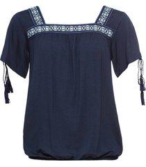 maglia con bordure (blu) - bodyflirt