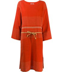issey miyake pre-owned 1970s stitched tunic dress - red