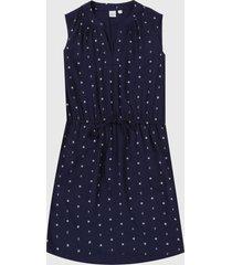 vestido azul-blanco gap