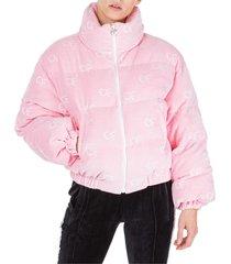chiara ferragni logo mix down jacket