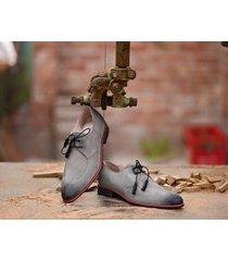 handmade men gray suede shoe, men dress formal shoes, leather shoes for men