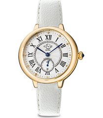 rome vegan stainless steel, leather-strap & diamond watch