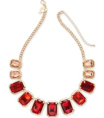 "thalia sodi gold-tone ombre stone collar necklace, 18"" + 3"" extender, created for macy's"