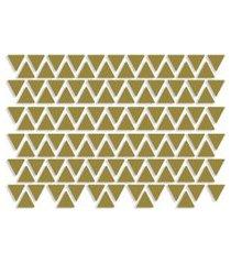 adesivo de parede triângulos dourados 121un