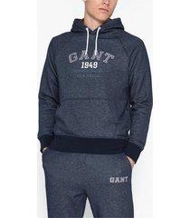 gant d1. graphic sweat hoodie tröjor dark navy