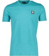 heren t-shirt turquoise diesel