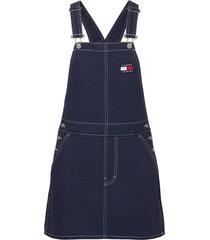 tjw dungaree dress kort klänning blå tommy jeans