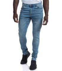 men's barbell apparel straight athletic fit jeans, size 38 x 34 - blue