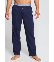 pantalón de pijama botón azul s